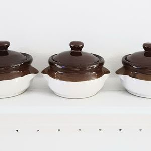 French Onion Soup Bowls with Lids (three bowls)